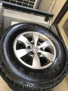 Fortuner rims mags spare tire
