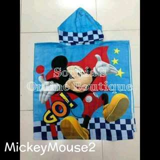 Kods Character Hooded Bath Towel - MICKEY MOUSE #2