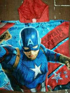 Kids Character Hooded Bath Towel - CAPTAIN AMERICA