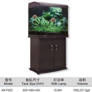 2ft aquarium fish tank with cabinet