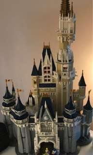 LEGO disney castle assembled
