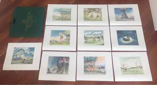 Golf artwork - set of original prints by Dutch artist