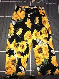 Bohoo highwasted sunflower pants
