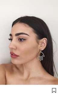 Minimalist hand earrings