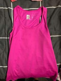 Pink gym top