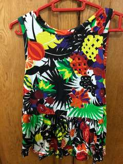 Asos Tropical Summer Beach Vibes Floral Fruit Tank Top Uk8