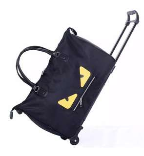"Elite 20"" Duffle Bag/Duffle Trolley - Yellow Eye Design"
