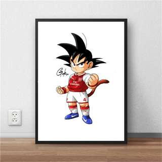 Goku in Arsenal Shirt