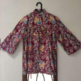 Batik Marun aplikasi manik