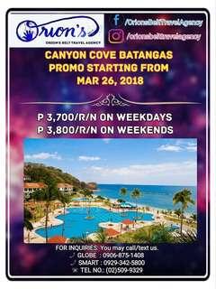 CANYON COVE BEACH CLUB VOUCHER