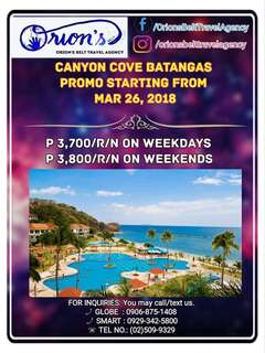 CANYON COVE STAYCATION 2018