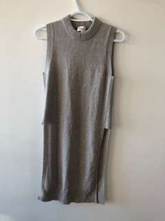 Knit aritzia crew neck long tank