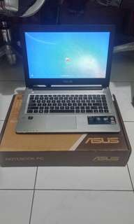 Laptop Asus Gaming S46C Core I5 Ram 4Gb Nego