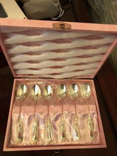 Japanese Silver tea spoon set