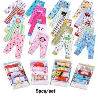 5PCS Baby Carter's Long Pants set