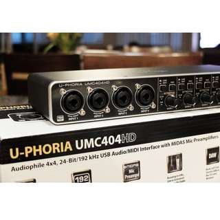 Behringer UMC404HD USB audio interface (brand new)