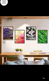 ✔Instock Fashion plant pho1to frame wall stickers simple fresh living room warm bedroom bedside flower art decorative wall stickers