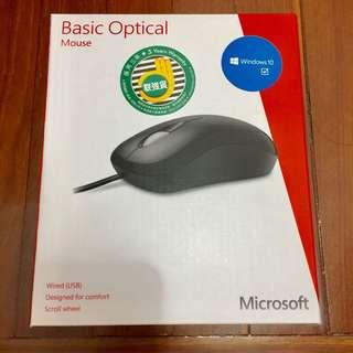 Microsoft Basic Optical Mouse,Genuine wired USB Mouse,微軟,原廠USB光學滑鼠,原廠滑鼠,USB插頭。支援Windows 10,8,RT,7,Vista,Mac OS X 10.4-10.7
