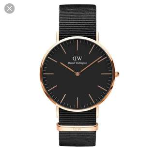 DW Cornwall Rose Gold Black Face