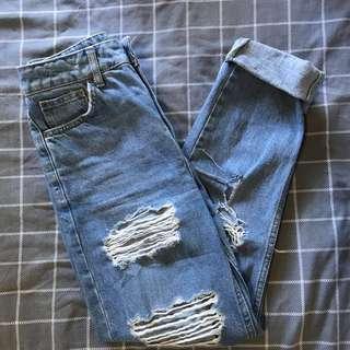 Topshop Ripped Boyfriend Jeans W25 to fit L32