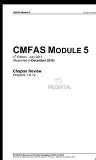 [2018] CMFAS M5 Notes & Mock Questions LATEST VERSION