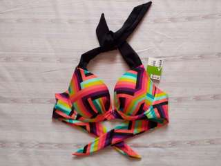 Cute Push-up Bikini Top Swimsuit XS-S Cup A Wired and Padded