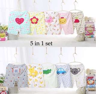 5PCS Pack Carter's Boy/Girl Cotton Pants