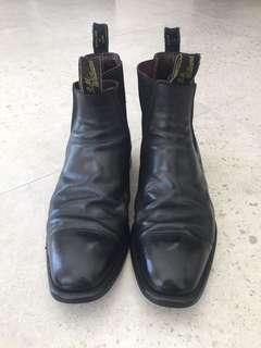 Men's Black R.M.Williams boots shoe 10.5H
