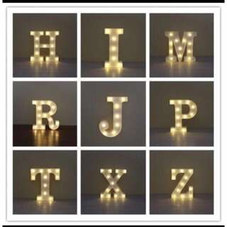 Led letter light (SOLD PER LETTER)