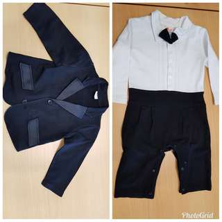 Baby suit and tuxedo