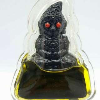 Por / Phra Ngang Red Eye Maha Ra Ruayblessed by Luangta Ruam, Wat kocksumran (in charm oil)