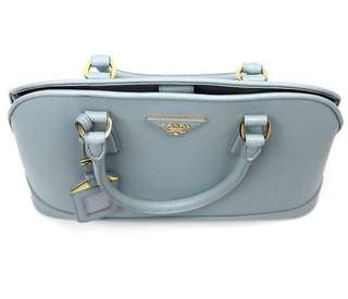 Authentic Prada Saffiano Lux baby blue bag