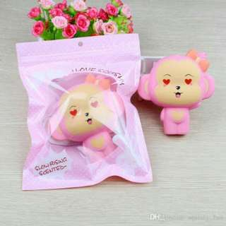 Squishy Monkey Pink