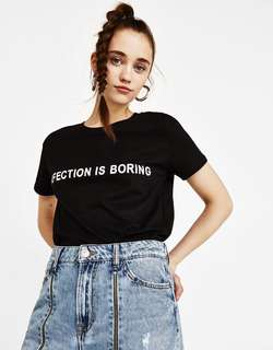 Bershka BSK Girl Printed T-shirt
