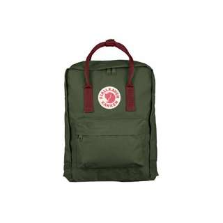 Green with red strap Kanken