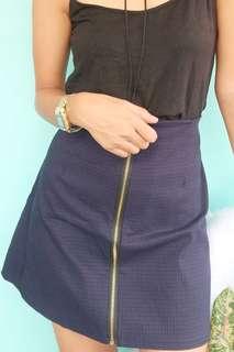 Royal Blue Zipper Skirt