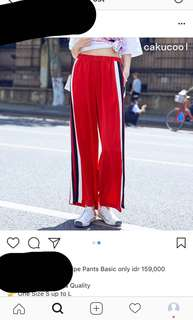 Red Stripe Pants