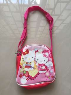 Hello Kitty Sling Bag with 2 zipper