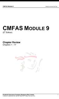 [2018] CMFAS M9 Notes & Mock Paper Questions CMFAS