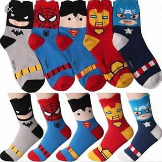 Marvel and DC Socks