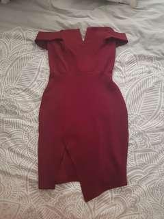 Boohoo off shoulder dress
