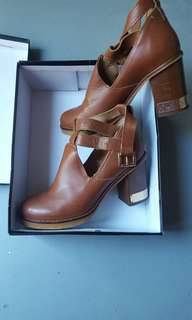 Topshop leather heeled boots
