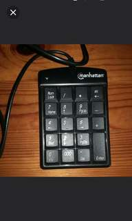 Number pad keyboard