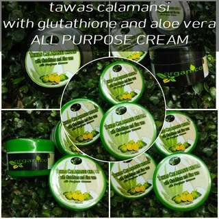 TAWAS CALAMANSI CREAM WITH GLUTATHIONE AND ALOE VERA ALL PURPOSE CREAM