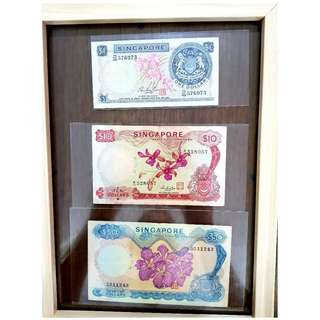 $1 to $50 Ochid Series signed by Hon Sui Sen Well Preserved (40+ years old notes)