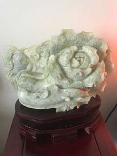 Chinese solid jade vegetable carving