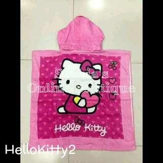 Kids Character Hooded Bath Towel - HELLO KITTY #2