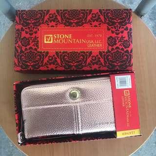 Repriced!! Rose Gold Metallic Double Zip Wallet