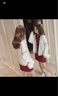 🆕 Knitted White Cardigan