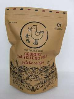 Golden duck salted egg yolk potato chips
